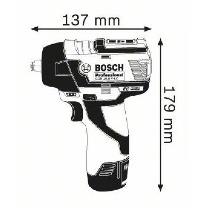 GDS 10,8 V-EC (2x2,5Ah) L-boxx ΜΠΟΥΛΟΝΟΚΛΕΙΔΟ Μπαταρίας BOSCH