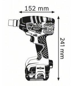 GDS 14,4 V-LI (2x4,0Ah) L-boxx ΜΠΟΥΛΟΝΟΚΛΕΙΔΟ Μπαταρίας BOSCH