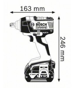 GDS 18 V-EC 250 (2x5,0 Ah) L-Boxx ΜΠΟΥΛΟΝΟΚΛΕΙΔΟ Μπαταρίας BOSCH