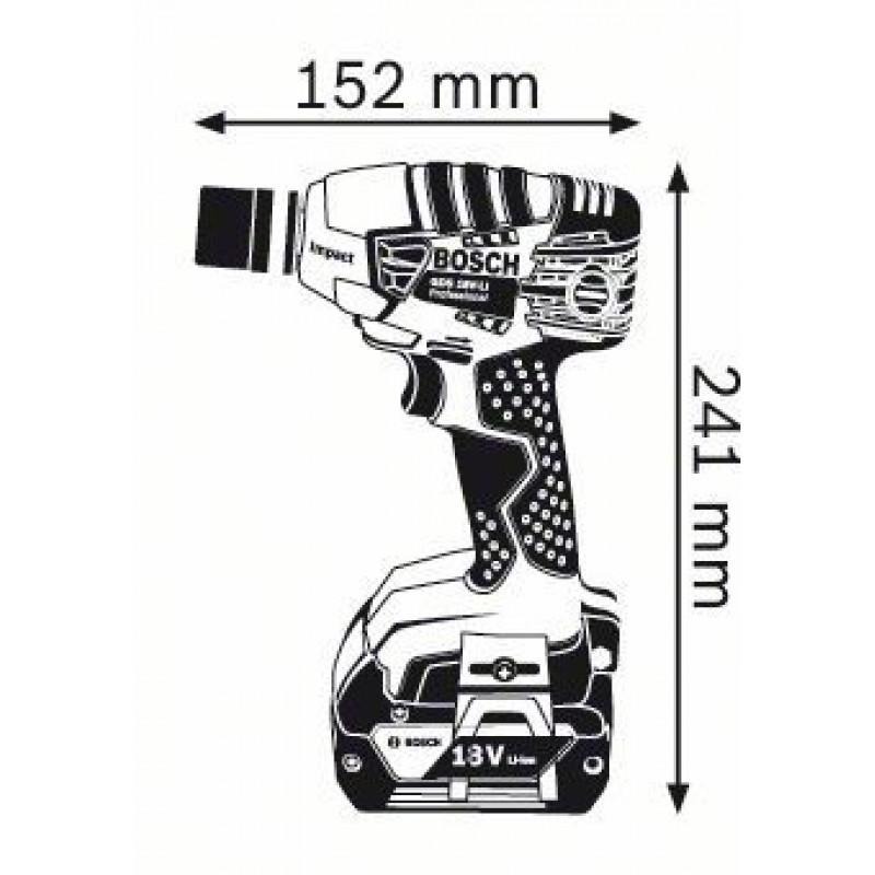 GDS 18 V-LI (2x4,0Ah) L-boxx ΜΠΟΥΛΟΝΟΚΛΕΙΔΟ Μπαταρίας BOSCH