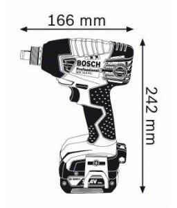 GDX 14,4 V-LI (2x4,0 Ah) L-Boxx ΣΥΝΘΕΤΟ ΜΠΟΥΛΟΝΟΚΛΕΙΔΟ Μπαταρίας BOSCH