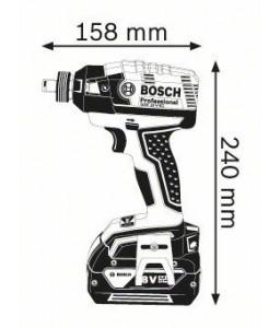 GDX 18 V-EC (2x4,0 Ah) L-Boxx ΣΥΝΘΕΤΟ ΜΠΟΥΛΟΝΟΚΛΕΙΔΟ Μπαταρίας BOSCH