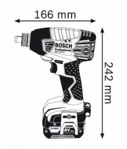 GDX 18 V-LI (2x4,0 Ah) L-Boxx ΣΥΝΘΕΤΟ ΜΠΟΥΛΟΝΟΚΛΕΙΔΟ Μπαταρίας BOSCH