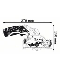 GKS 10,8 V-LI (2x2,0Ah) L-Boxx Δισκοπρίονο Μπαταρίας BOSCH