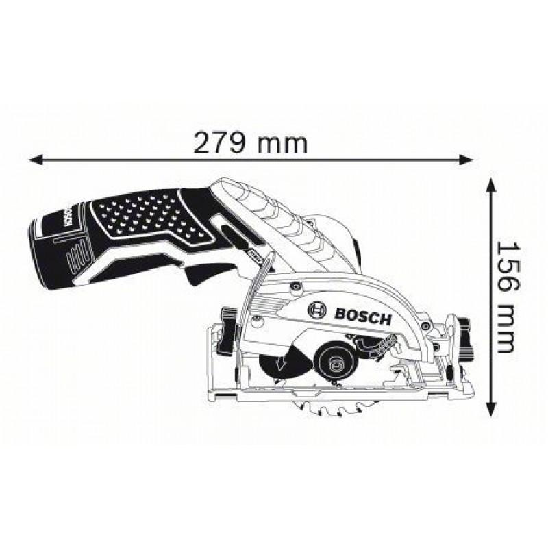 GKS 10,8 V-LI solo (χωρίς μπαταρίες και φορτιστή) L-Boxx Δισκοπρίονο Μπαταρίας BOSCH