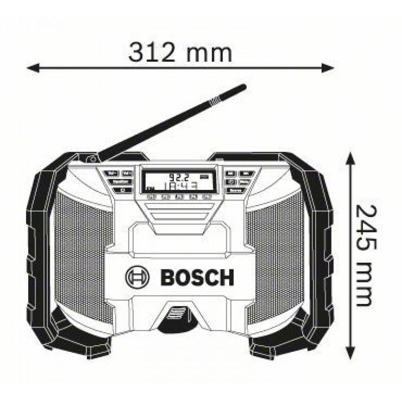 GML 10,8 V-Li ΡΑΔΙΟΦΩΝΟ/MP3 PLAYER Μπαταρίας BOSCH
