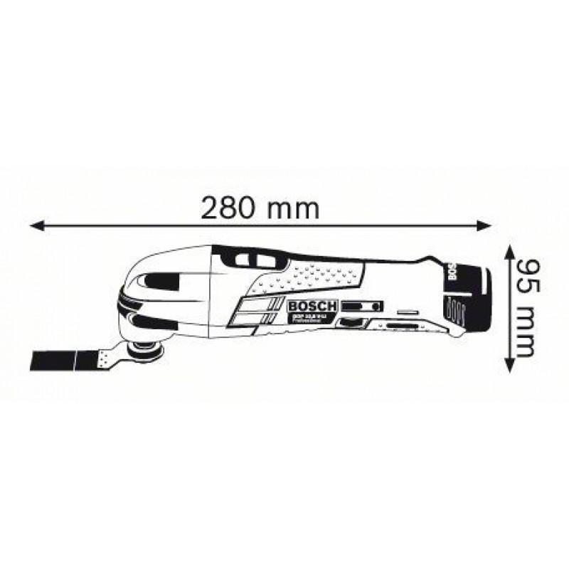 GOP 10,8V-LI (2x1,5 Ah) L-Boxx Πολυεργαλείο MULTI CUTTER BOSCH