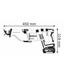 GSA 18 V-LI (2x4,0Ah) L-boxx Σπαθόσεγα Μπαταρίας BOSCH