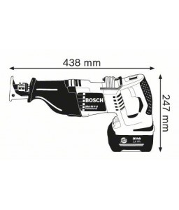 GSA 36 V-LI (2x2,6 Ah) Σπαθόσεγα Μπαταρίας BOSCH