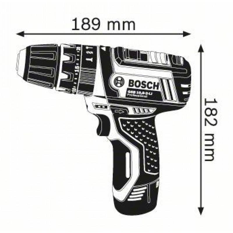 GSB 10,8-2 V-LI solo (χωρίς μπαταρίες και φορτιστή) L-Boxx ΚΡ. ΔΡΑΠ/ΒΙΔΟ Μπαταρίας BOSCH