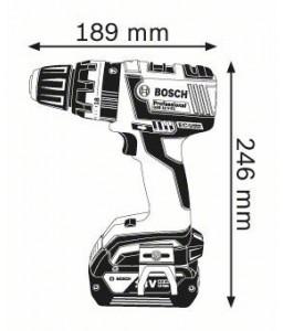 GSB 18 V-EC (2x5,0 Ah) L-boxx ΔΡΑΠΑΝ/ΒΙΔΟ Μπαταρίας BOSCH