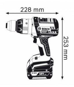 GSB 18 VE-2 LI (2x4,0Ah) L-boxx ΚΡ. ΔΡΑΠ/ΒΙΔΟ Μπαταρίας BOSCH