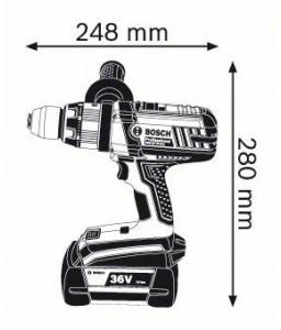 GSB 36 VE-2-LI (2x2,0Ah) L-Boxx ΚΡΟΥΣΤ. Δραπανοκατσάβιδο Μπαταρίας BOSCH