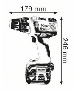 GSR 14,4 V-EC (2x4,0 Ah) L-boxx ΔΡΑΠΑΝ/ΒΙΔΟ Μπαταρίας BOSCH
