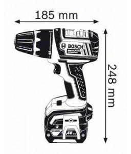 GSR 14,4 V-LI (2x1,5 Ah) L-boxx ΔΡΑΠΑΝ/ΒΙΔΟ Μπαταρίας BOSCH