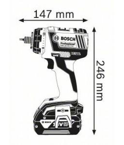 GSR 18 V-EC FC2 Set (2x4,0Ah) L-boxx ΔΡΑΠ/ΒΙΔΟ Μπαταρίας BOSCH