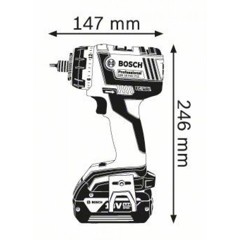 GSR 18 V-EC FC2 solo (χωρίς μπαταρίες και φορτιστή) L-boxx ΔΡΑΠ/ΒΙΔΟ Μπαταρίας BOSCH