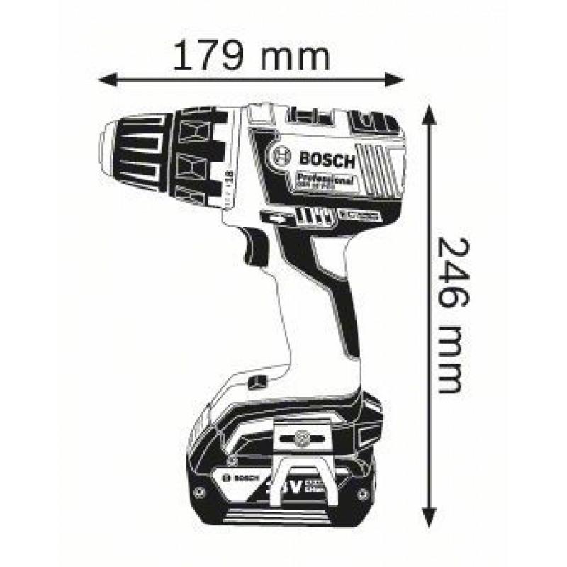 GSR 18 V-EC (2x4,0Ah) L-boxx ΔΡΑΠ/ΒΙΔΟ Μπαταρίας BOSCH