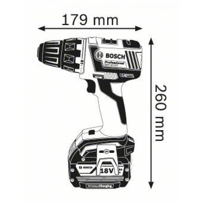 GSR 18 V-EC Wireless (2x4,0Ah) L-boxx ΔΡΑΠ/ΒΙΔΟ Μπαταρίας BOSCH
