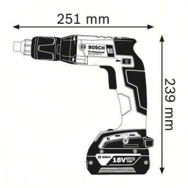 GSR 18 V-EC TE (2x4,0Ah) + MA 55 L-Boxx Δραπανοκατσάβιδο ΜΕ ΑΥΤΟΤΡΟΦΟΔΟΤΗΣΗ BOSCH
