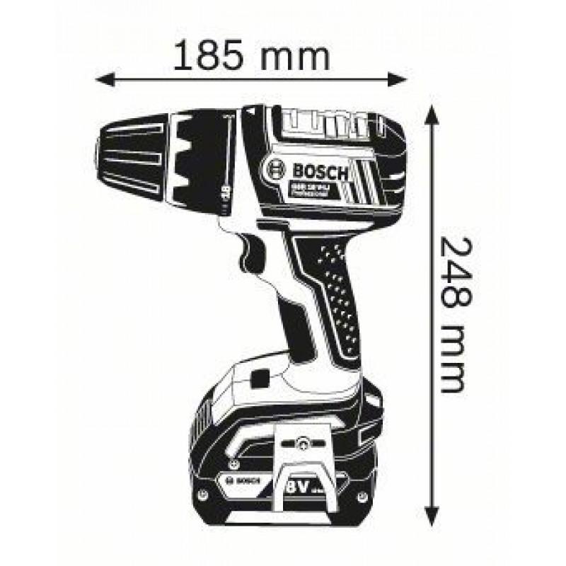 GSR 18 V-LI (2x4,0Ah) L-boxx ΔΡΑΠ/ΒΙΔΟ Μπαταρίας BOSCH