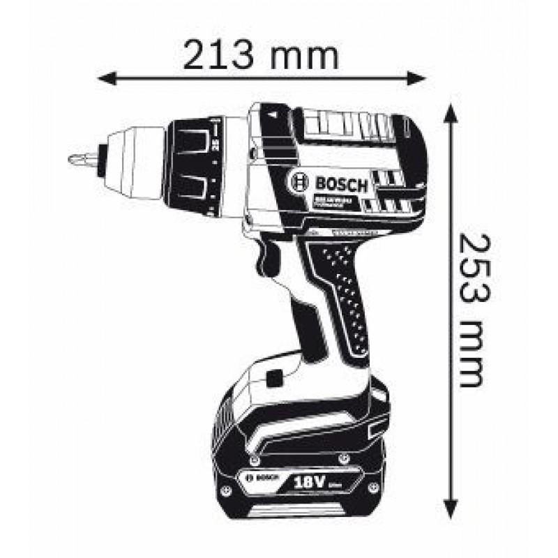 GSR 18 VE-2-LI solo (χωρίς μπαταρίες και φορτιστή) L-Boxx Δραπανοκατσάβιδο Μπαταρίας BOSCH