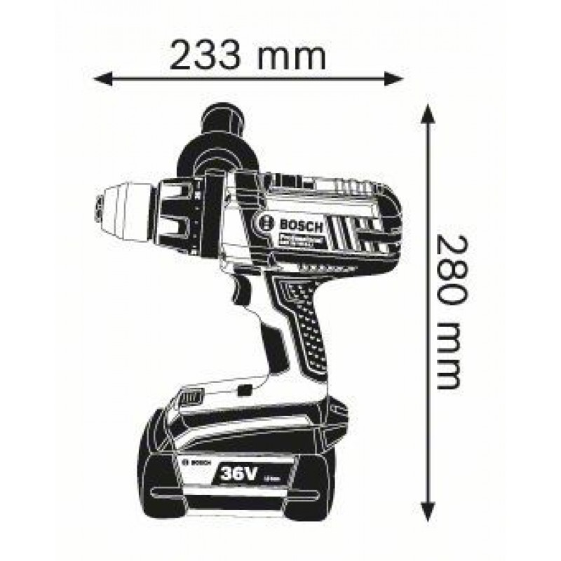 GSR 36 V-LI (2x2,0Ah) L-Boxx Δραπανοκατσάβιδο Μπαταρίας BOSCH