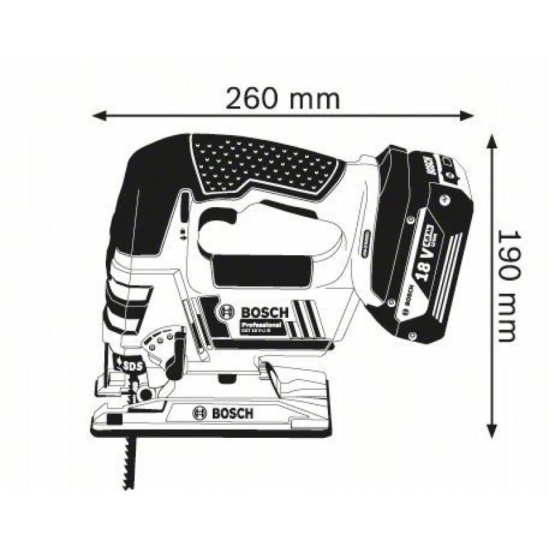 GST 18 V-LI B (2x4,0 Ah) L-Boxx Σέγα Μπαταρίας BOSCH