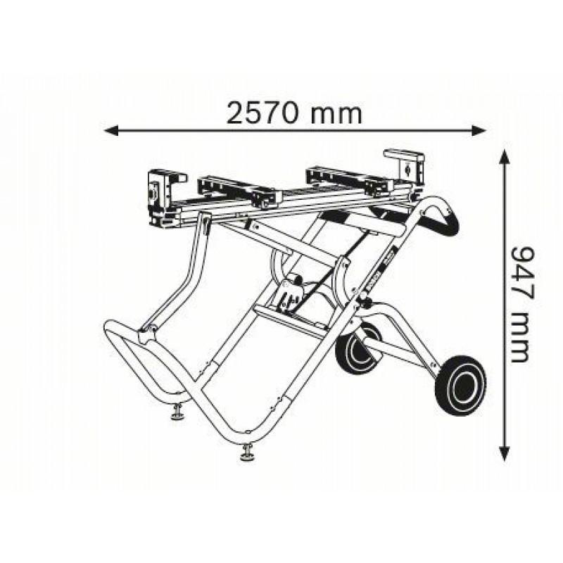 GTA 2500 W Φορητή Βάση Τραπέζι BOSCH