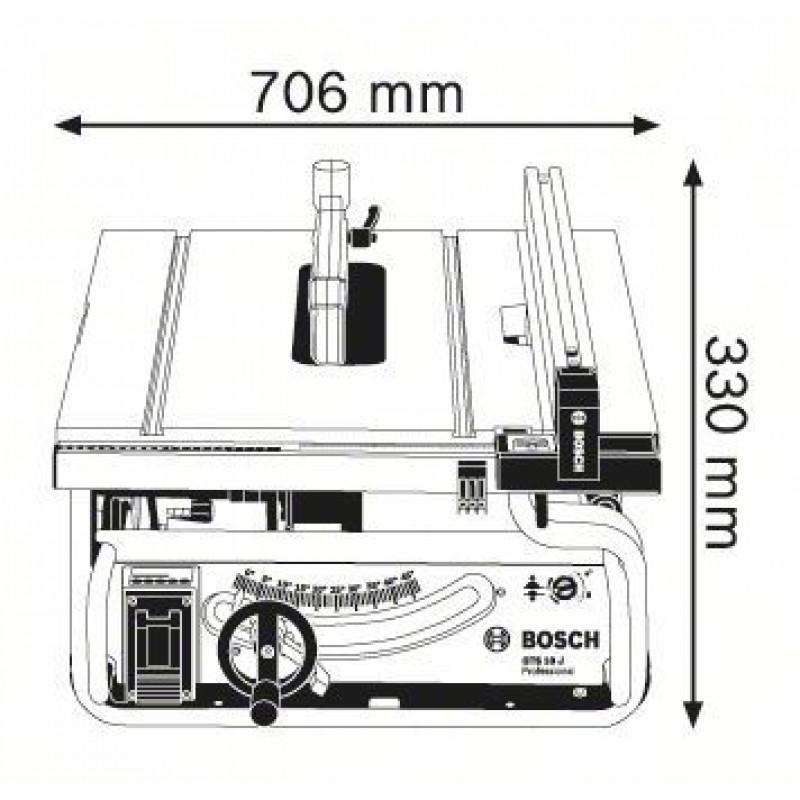 GTS 10 J Επιτραπέζιο πριόνι BOSCH