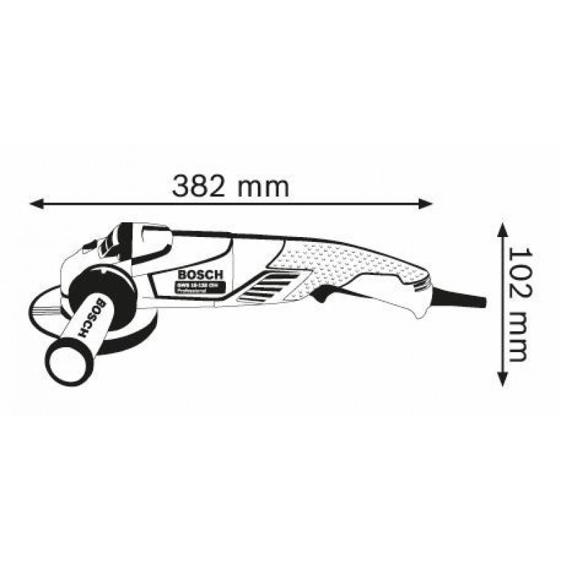 GWS 15-125 CIH Μεσαίος Γωνιακός Τροχός BOSCH