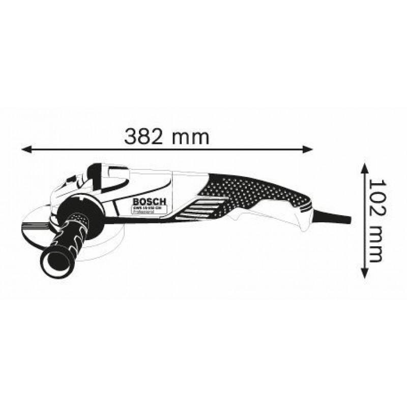 GWS 15-150 CIH Μεσαίος Γωνιακός Τροχός BOSCH