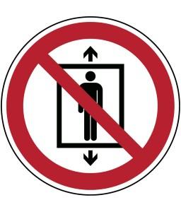P027 - Μην χρησιμοποιείτε αυτόν τον ανελκυστήρα για άτομα