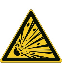 W002 - Προσοχή Εκρηκτικό υλικό
