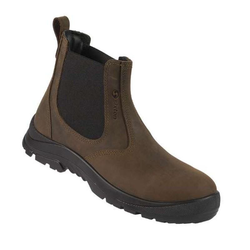 DEALER BOOT παπούτσια εργασίας καφέ με προδιαγραφές S3 SRC SIXTON