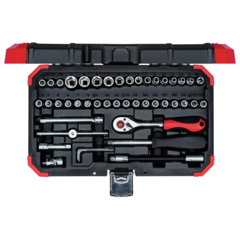 3300052 Σετ καρυδάκια 1/4in 4-14mm 46τμχ GEDORE RED