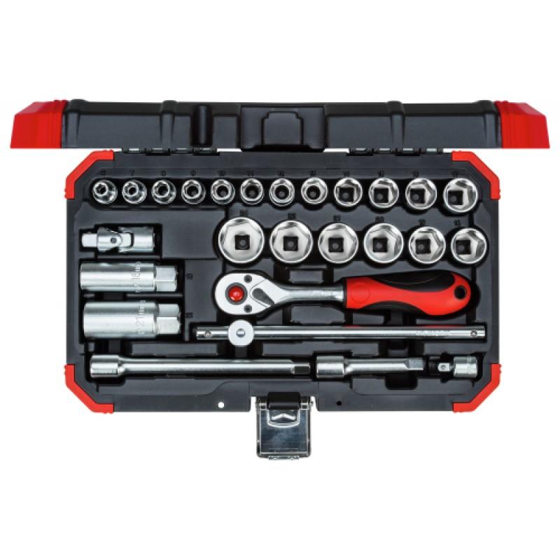 3300053 Σετ καρυδάκια 3/8in 6-24mm 26τμχ GEDORE RED