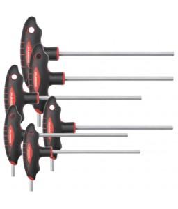 3301281 Σετ κλειδιά άλλεν με λαβή σχήματος T 2К 6γωνο 2.5-8mm GEDORE RED