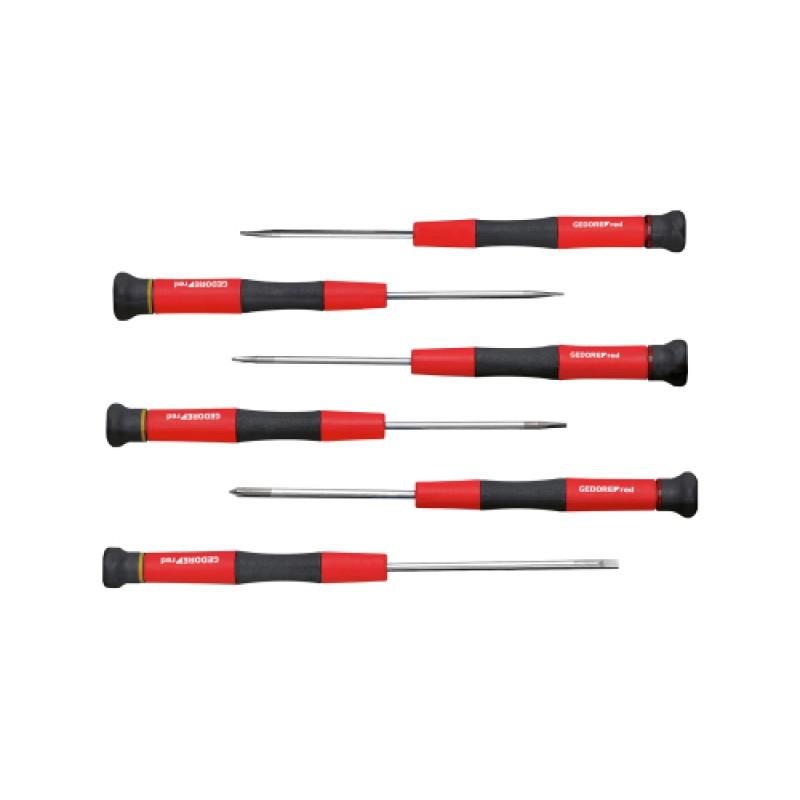 3301351 Σετ κατσαβίδια ηλεκτρονικών 2K PH+SL 6τεμ. GEDORE RED
