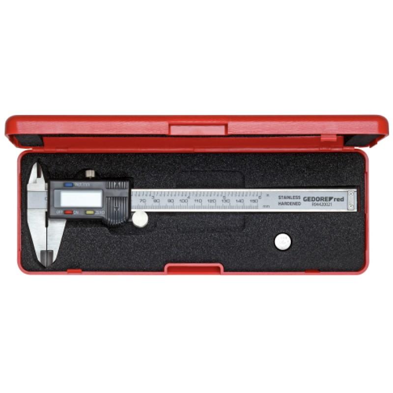 3301430 Ψηφιακό παχύμετρο 153mm χιλ./ίντσες GEDORE RED