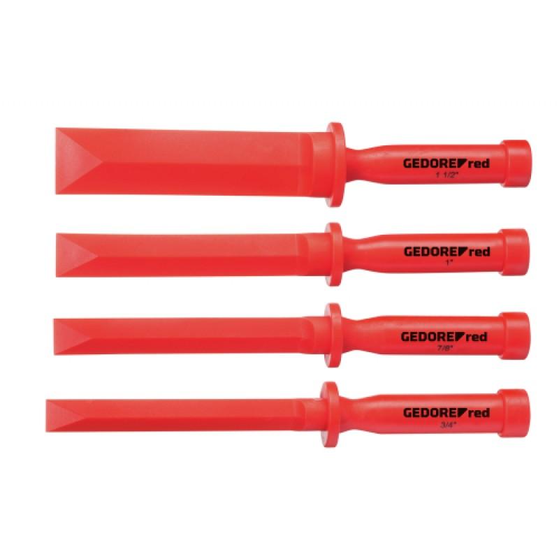 3301570 Σετ κοπίδια από πλαστικό υλικό πλάτ.3/4-1.1/2in 4τμχ GEDORE RED