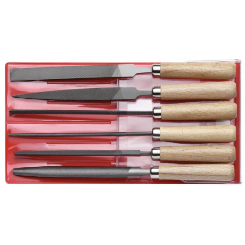 3301596 Συλλογή από λίμες Μήκ.177mm 6τμχ GEDORE RED