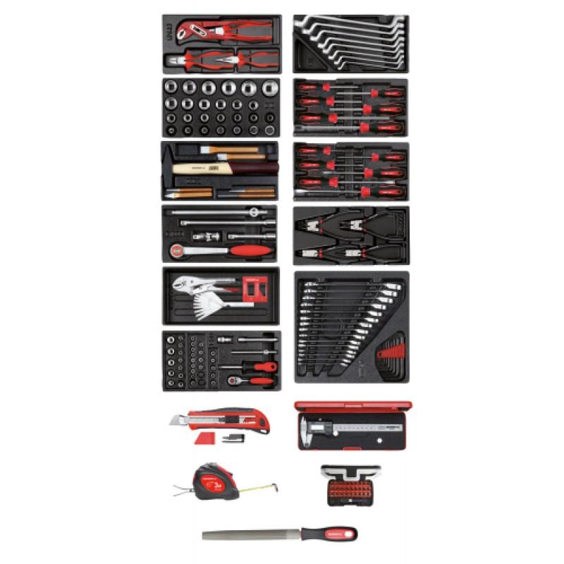 3301657 Σετ εργαλείων σε μονάδα 11xES + διάφορα εργαλεία 167τμχ GEDORE RED