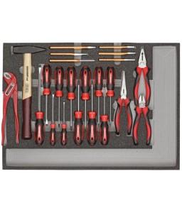 3301686 Σετ εργαλείων ΒΑΣΙΚΟ εργαλεία μονάδα 1/1 CT GEDORE RED