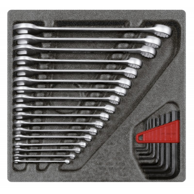 3301699 Σετ γερμανοπολύγωνων κλειδιών σε μονάδα 4/6 CT, 25τμχ GEDORE RED