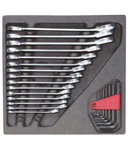 3301700 Σετ κλειδιών βιδώματος σε μονάδα 4/6 CT, 23 τμχ GEDORE RED