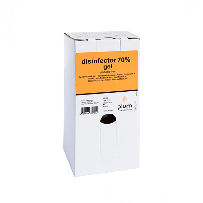 3720 Disinfector 70% Gel Απολυμαντικό Χεριών 1.0 l Σακούλα σε Κουτί PLUM