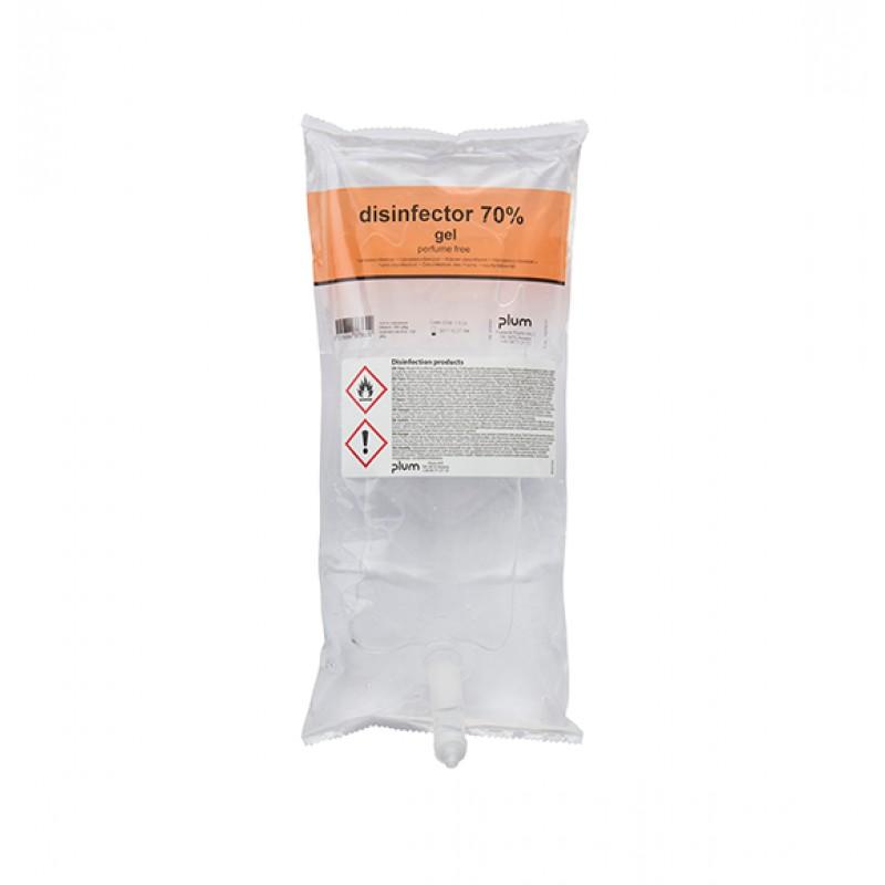 3736 Disinfector 70% Gel Απολυμαντικό Χεριών 1.0 l Σακούλα PLUM