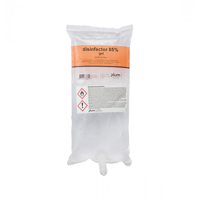 3766 Disinfector 85% Gel Απολυμαντικό Χεριών 1.0 l Σακούλα PLUM