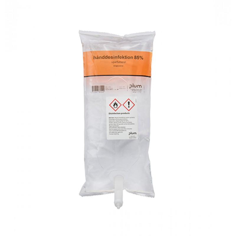 3856 Disinfector 85% Liquid Απολυμαντικό Χεριών 1.0 l Σακούλα PLUM